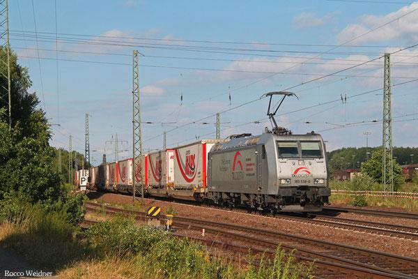 TXL 185 538 mit DGS 43512 München-Laim Rbf - Bettembourg/L , Einsiedlerhof 17.07.2015