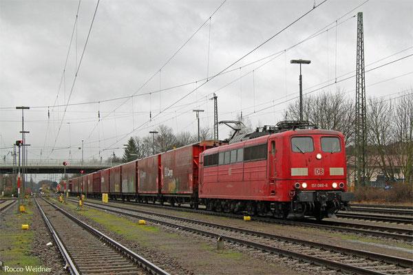 151 086 mit XP 52784 Rüsselsheim Opelwerk - Einsiedlerhof, 07.01.2016