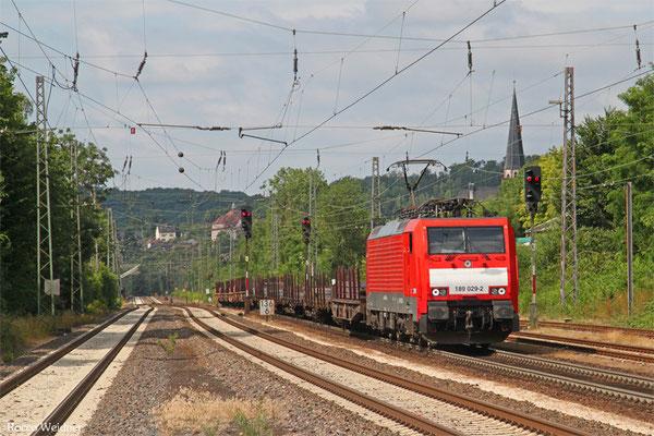 189 029 mit GM Völklingen - Neunkirchen(Saar) Hbf, Dudweiler 14.07.2015