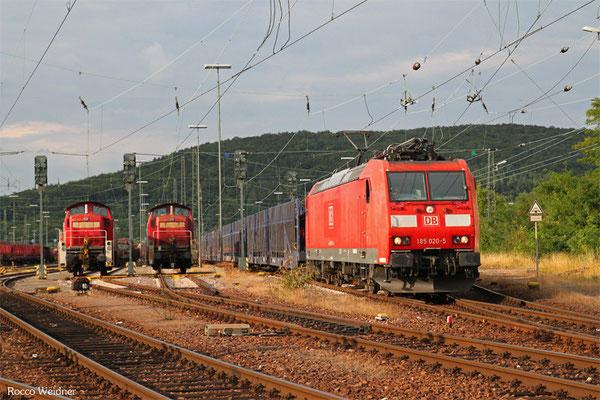 185 020 mit EZ 51913 Saarbrücken Rbf Ost - Mannheim Rbf Gr.M, 19.08.2015