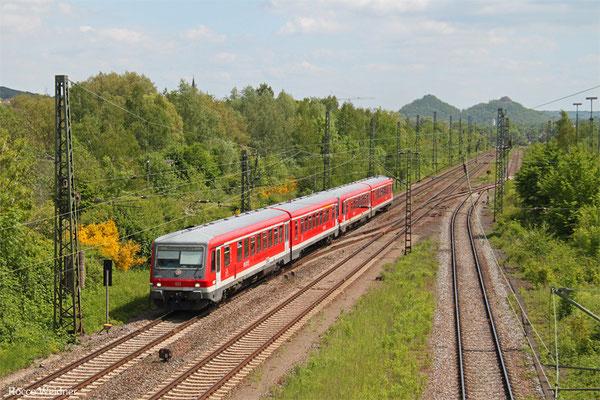 628 473 + 628 477 als RB 12548 Saarbrücken Hbf - Trier Hbf (Sdl. Saar-Pedal), Bous 17.05.2015
