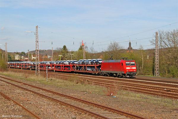 145 028 mit EZ 49268 Einsiedlerhof - Villers-Cotterêts/F (Auto und Autoteile SRA), Sulzbach(Saar) 14.04.2015