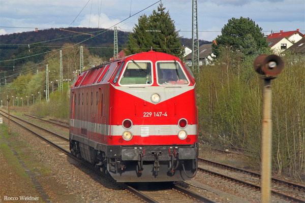 229 147 als Bauz 95745 nach Saarbrücken Rbf (Sdl.), Hochspeyer 15.04.2016