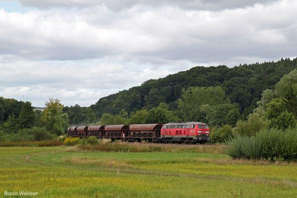 225 021 mit EK 55909 Rammelsbach-Steinbruch - Einsiedlerhof, Niedermohr 25.08.2015