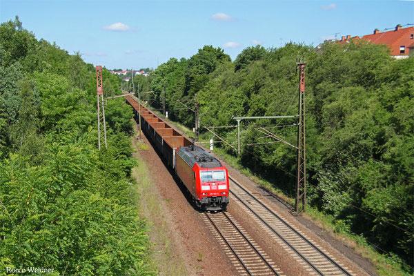 185 158 mit EZ 45661 Ehrang Nord - Homburg(Saar) Hbf, Neunkirchen-Sinnertal 17.06.2015