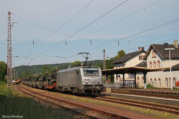 BB37006 mit DGM 44444 (Jankowo Pomorskie/PL) Oderbrücke - Forbach/F (Sdl.Militärgut), Dudweiler 06.06.2015