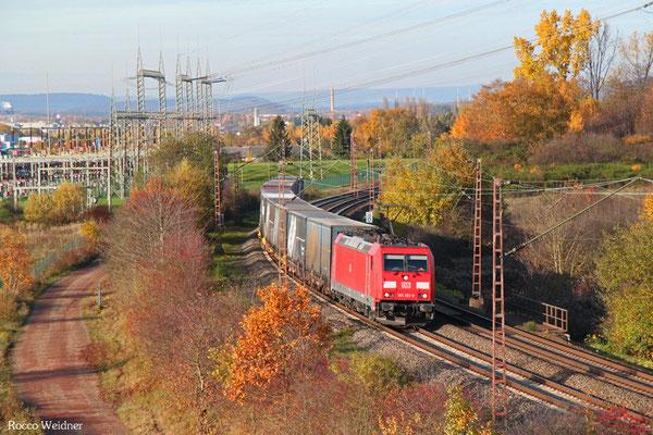 185 393 mit GA 52980 Köln Eifeltor Bez III - Saarbrücken Rbf Nord, Ensdorf 05.11.2015