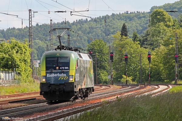 GySEV 470 504 als Tfzf(D) 42887 Landsweiler-Reden - Saarbrücken Rbf Nord (Sdl.), Dudweiler 21.05.2015
