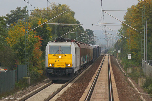 ECR 186 311 mit XP 49217 Cerbere/F - Mannheim Rbf Gr. M, Homburg(Saar) 10.10.2015