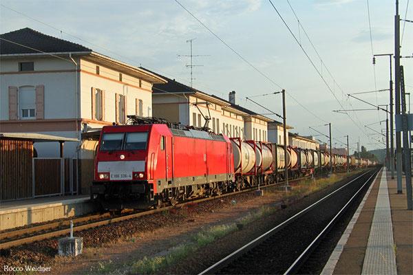 186 336 mit KT 41201 (Irun/E) Forbach/F - Ludwigshafen BASF Ubf, Forbach 22.07.2015