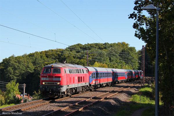 218 460 mit DPE 13485 Koblenz Hbf - Basel SBB (Sdl.), Fischbach-Camphausen 29.09.2015