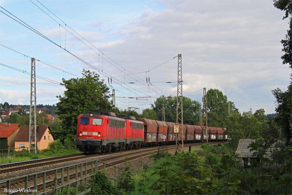 DT 140 837 + 140 850 mit GM 48776 Dillingen Zentalkokerei - Oberhausen West Orm, Beckingen 20.09.2015