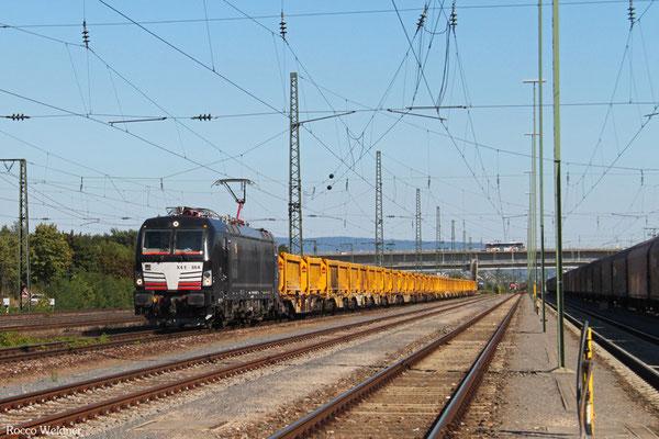 MRCE 193 864 mit Bauz 91519 Stuttgart Nord Gbf - Nordhausen No (Sdl.Abraum), Mannheim Rbf Gr.G 03.08.2015
