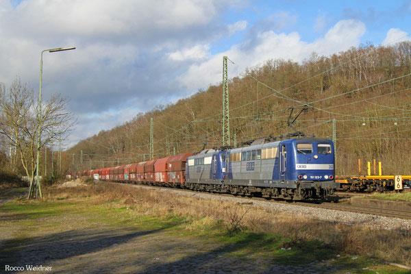 DT 151 123 + 151 143 mit GM 48745 Maasvlake - Fürstenhausen, Luisenthal(Saar) 12.02.2016