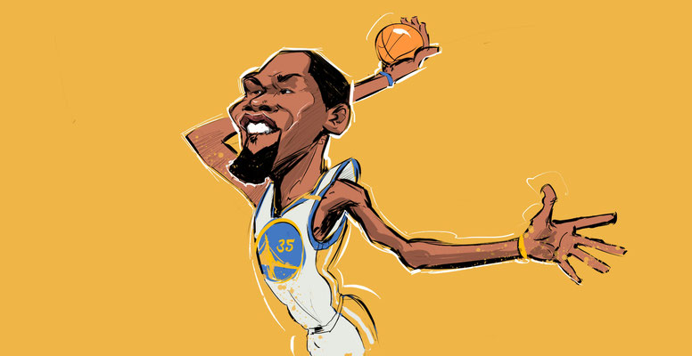 Kevin Durant Karikatur