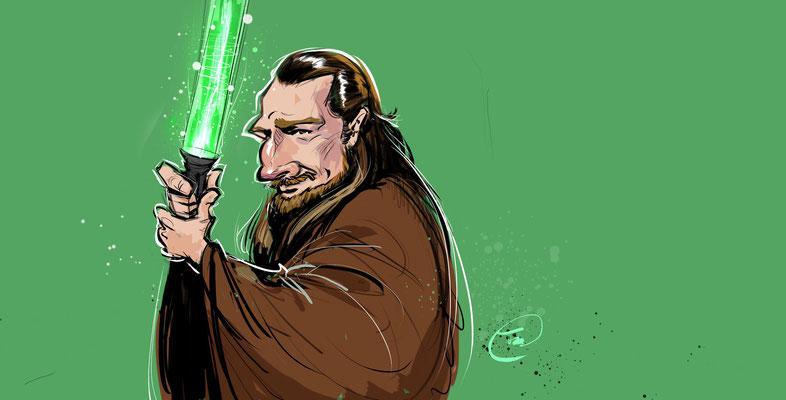 Liam Neeson als Qui Gn Jin aus der Star Wars Saga