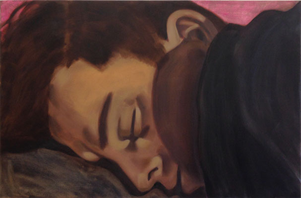 Maar het leven gaat verder, oil on canvas, 121 x 80 cm