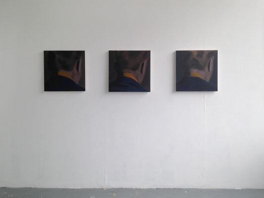 Als een schaduw, oil on canvas, (3x) 50x50 cm