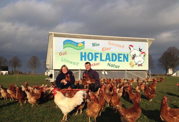 Auch wir freuen uns jeden Tag über die Hühner
