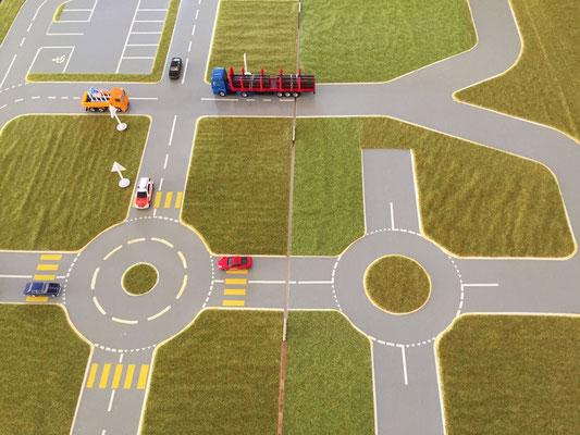 Verkehrstisch für Übungen verschiedener Situationen