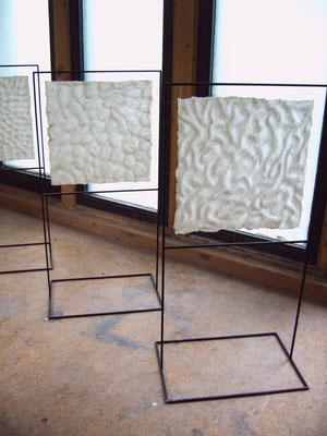 >Meereslauschen I<, Filz, 2008, B 50 cm