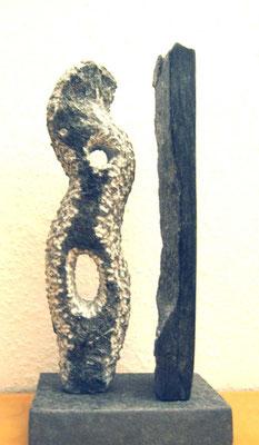 >Die Alte<, Finnischer Speckstein, 2008, H 30 cm