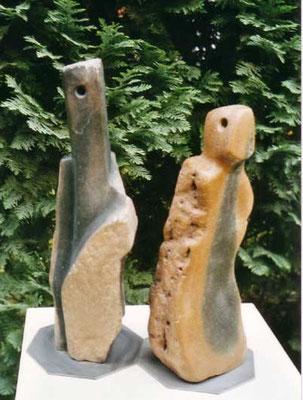 >Die Zwei<, Springstone, 2007, H 30 cm