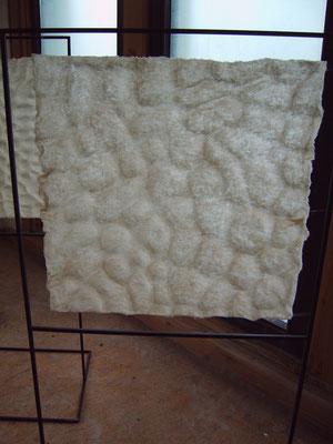 >Meereslauschen II<, Filz, 2008, B 50 cm