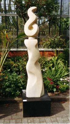 >Meerweib II - die Fließende<, Elbsandstein, 2005, H 160 cm