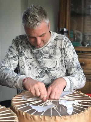 je fabrique mon tambour