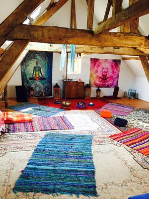 salle de méditation au Moulin de grouches, Pranahvital