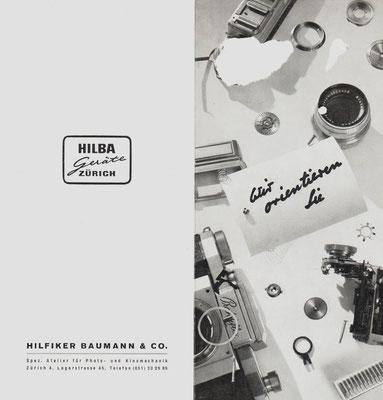 Erster Prospekt der Fa. Hilba 1947 ©  HILBA Geräte Zürich