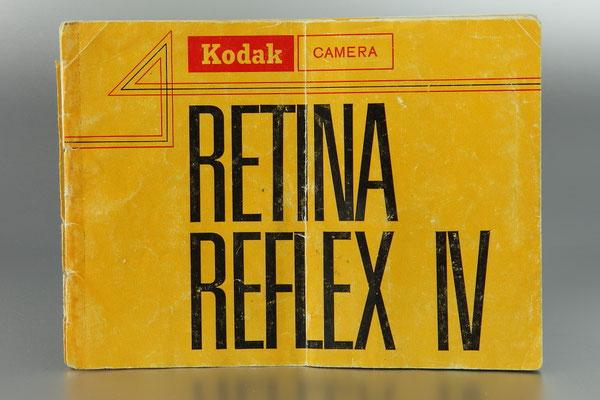 Anleitung KODAK Retina Reflex IV  ©  engel-art.ch