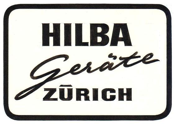 HILBA Logo  1947  ©  HILBA Geräte Zürich