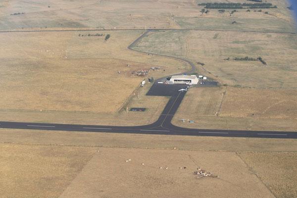 aérodrome de Saint Flour-Coltines vue depuis ULM