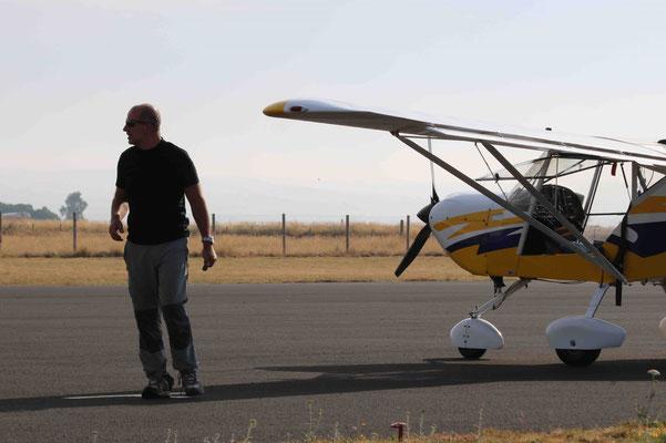 ULM et son pilote Cédric Hesling