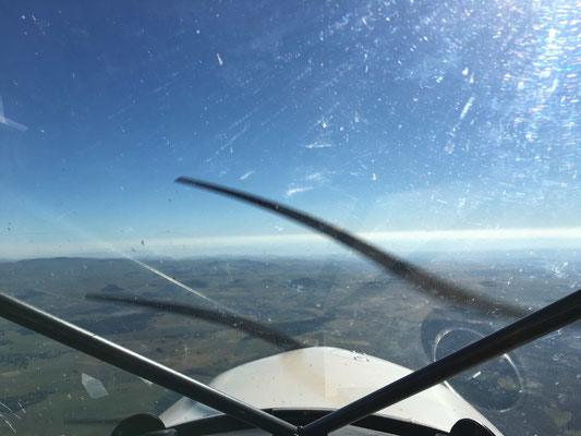 on board our microlight