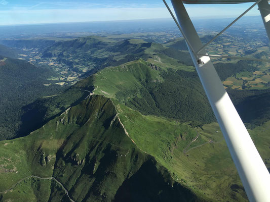 cantal view from microlight