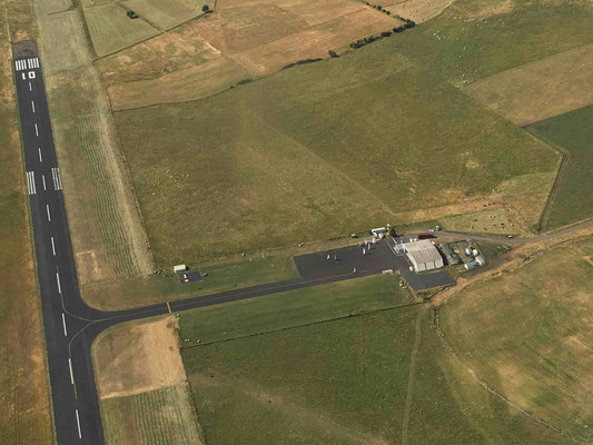 french aerodrome view from a microlight