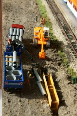Grabenverbau in der künftigen Liststraße