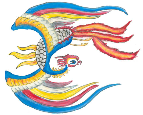 Wer dem chinesischen Feuervogel Feng Huang begegnet, dem ist das Glück stets hold.