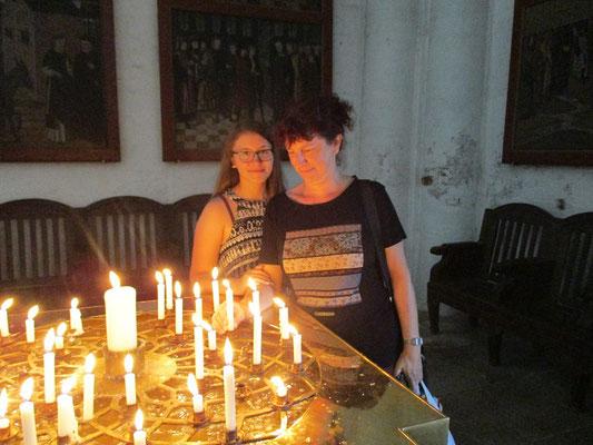 Auch hier haben wir gerne Kerzen entzündet