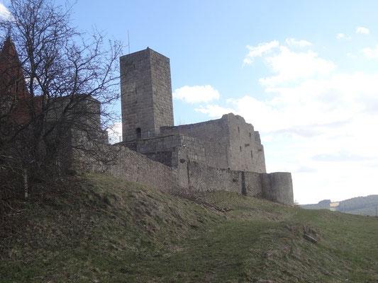 Die Burg in ihrer Gesamtansicht