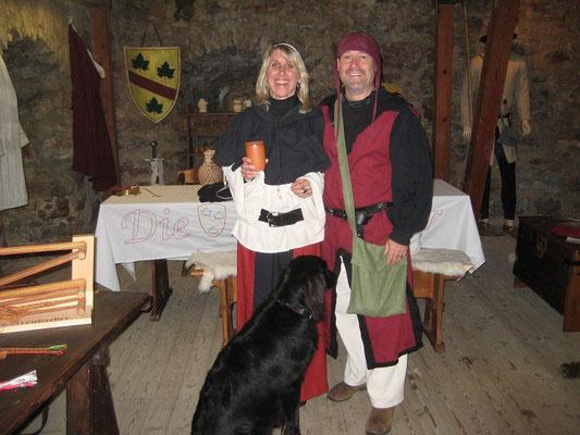 Birgit und Joachim vom Huchenfelde, die zum ersten mal einen zeitsprung wagten.
