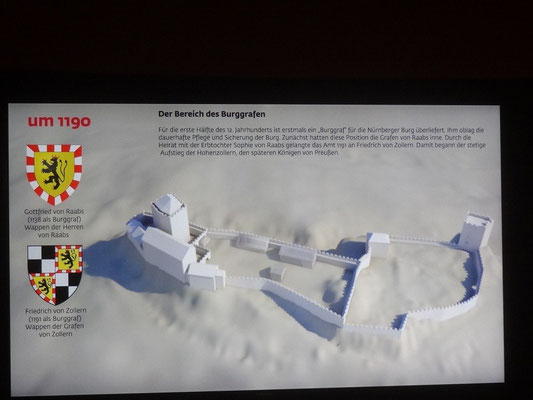 Auf diesen folgenden Schautafeln lässt sich die Entwicklung der Burg sehr gut nachverfolgen.
