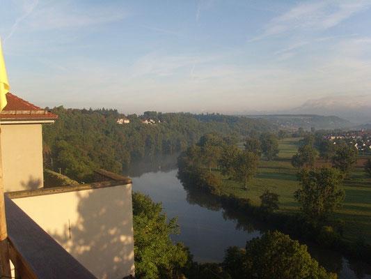 Welch Aussicht auf den Neckar