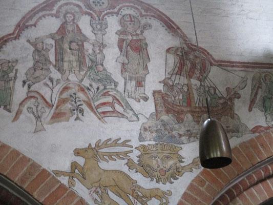 Vermutlich in Santiago de Compostella, beim heiligen Jakob. Mann kann es unschwer an den Jakobsmuscheln an den Pilgertaschen erkennen