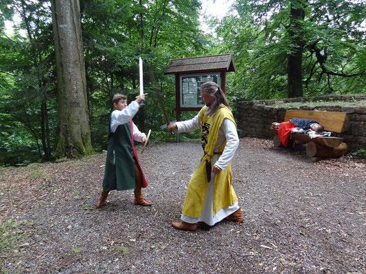 Die Übungen mit dem Schwert