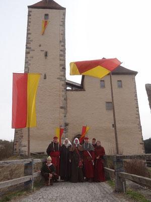Am eingang zur Burg Trausnitz im Tal zur Unterscheidung zur Burg Trausnitz bei Landshut.