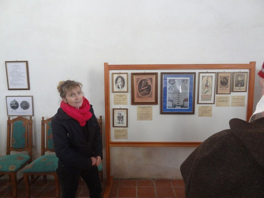 Frau Lingel begann ihre Führung in der Burgkapelle, in der wir über das Geschlecht der Leuchtenberger sehr viel erfuhren